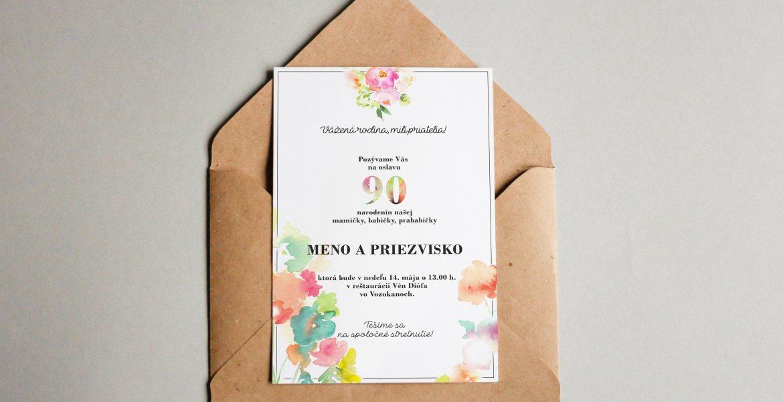 Pozvánka na oslavu